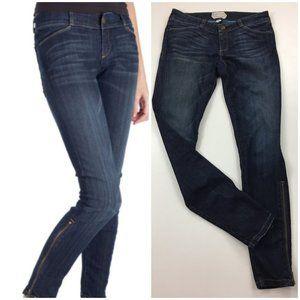 CURRENT ELLIOTT The Cropped Legging Long Zip Jeans